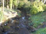 River which runs through Glan Gwna Park