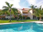 Backyard pool showing 6 Villas total.