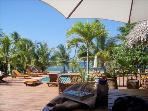 Pool and Restaurant decks... on the beach