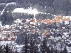 View of Méribel and the Chalet