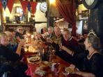 dining out at l'ostal des troubadours at le cite medievil Carcassonne' tres bonne'