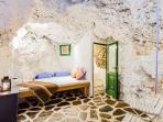 The mediation cave, also great for meditation. It is below the pool house