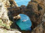 There are many cliffs, coves and grottoes to explore within walking distance of the apartment