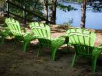 Chairs over look lake