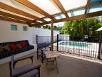 The Edge- Outdoor lounge area to pool