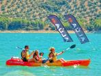 Kayaks - Valdearenas Beach, Lake of Iznajar by Casa Las Eras