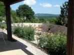 Overdekte terras met panoramisch verzicht
