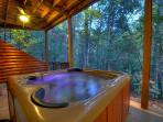 Hot Tub overlooking Creek