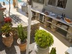 The outdoor Mediterranean Kitchen at VLK