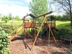 Take a walk through the olive grove to the children's climbing frame.