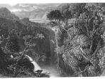 Historical print of the Famous Falls of Foyers.