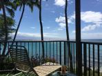 Relax Maui-Style on your private lanai. Can't improve on the view either! Watch surfers, whales, sky