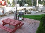 Camper's Patio with Picnic Table and Grill