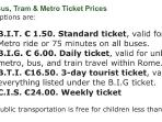 Cost of public transport
