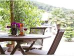 romantic dining patio