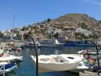 The main harbor of Hydra
