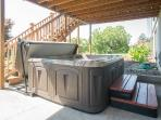 Private hot tub with seating for six!