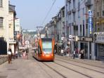 Take a tram ride through the centre of Le Mans.