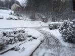 La cour en hiver