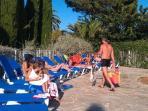 Solarium facing kids pool