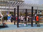 Juegos infantiles en el Paso Marítimo. A 100 mts del apartamento y a la orilla del mar.