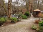 Garden parking and summer house