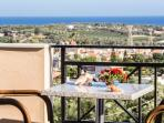 Helidonia Villas, KIMON: bedrooms balcony with sea view