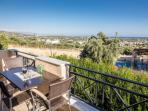 Helidonia Villas, KIMON: balcony with sea view at the dining area & kitchen