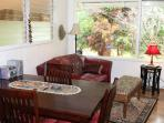 Dining Room table - Volcano Garden Cottage, Volcano Village, Big Island of Hawaii