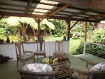 Back Porch at Kilauea Garden Cottage Volcano Village Accomodations