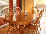 Dining room table with seating for 6 people