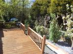 Enjoy the traquility of our lovely front garden with decking area