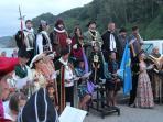Escena de la fiesta local del Desembarco de Carlos V