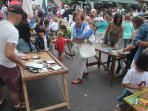 Juegos infantiles en la fiesta local del Desembarco de Carlos V