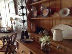 Antique Hutch in the Dining Room
