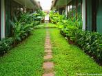Walkway in bungalow