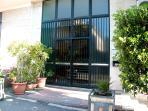 entrance condominium