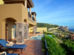 Southern view of villa110 pool terrace