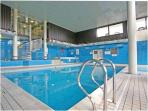 Heated indoor pool in the lesiure centre