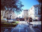 the Square opposite the apartment !