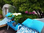 Comfortable patio furniture gives you a place to relax