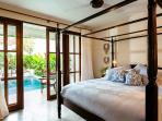 Four poster beds, now with mosquito nets
