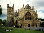 Exeter Cathedral only 2 minutes walk from the Penthouse