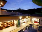 Spacious villa designed around the inviting swimming pool