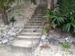 Stairs to private beach