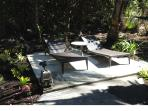Out door patio where you can relax, sunbathe, read or meditate