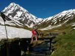 Walking to the famous Pic du Midi
