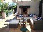 Outside sofa's on the terras
