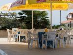 on the terrace you can have breakfast or just relax in the sun