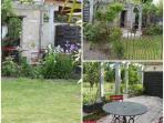 Terrasse privative, chaises longues, table et chaises de jardin, plancha.